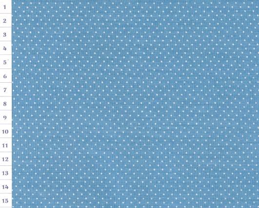 Cotton Fabric OAP Light Blue, Small Dots