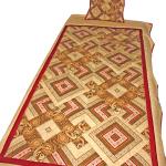 Deka šitá technikou One Fabric Quilt