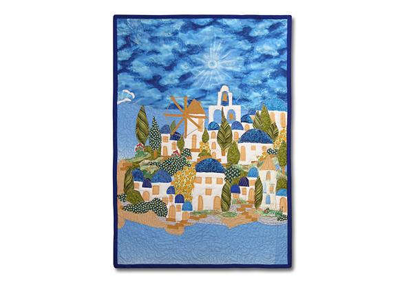 Santorini quilt, titulný obrázok