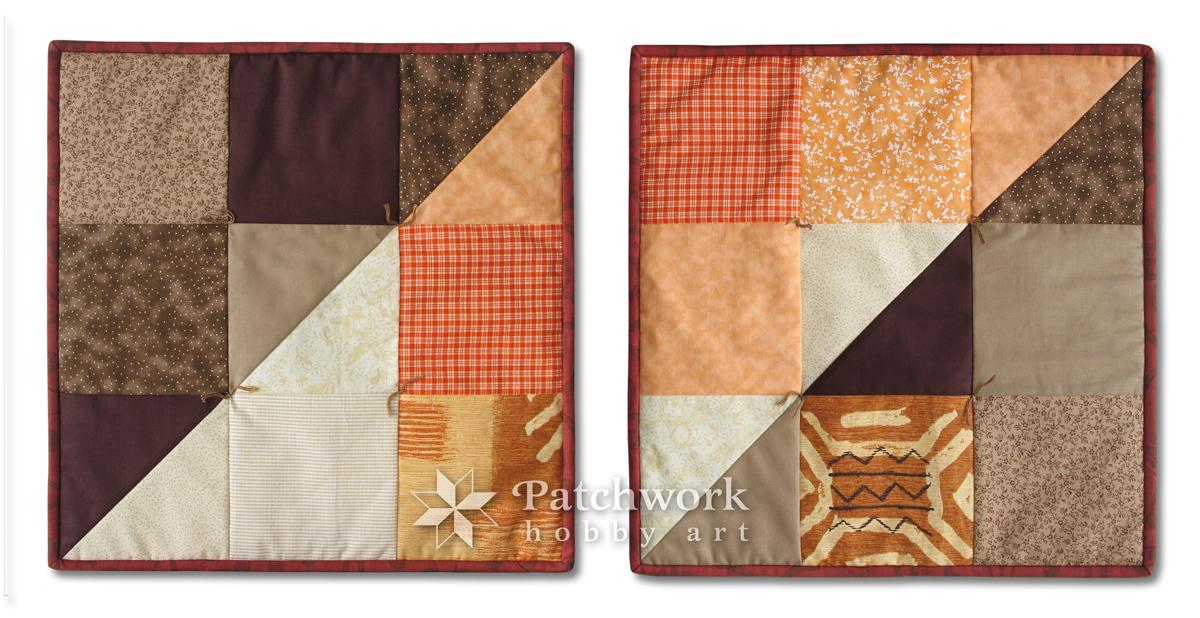 Vankúše Štvorce, patchwork