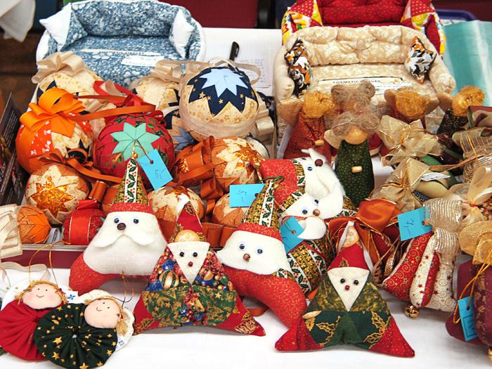 Vianočné minidarčeky šité technikou patchwork