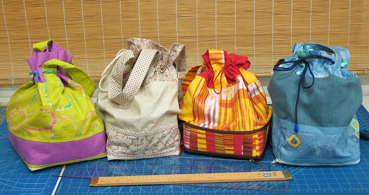 Vkusné a praktické tašky v zloženom stave