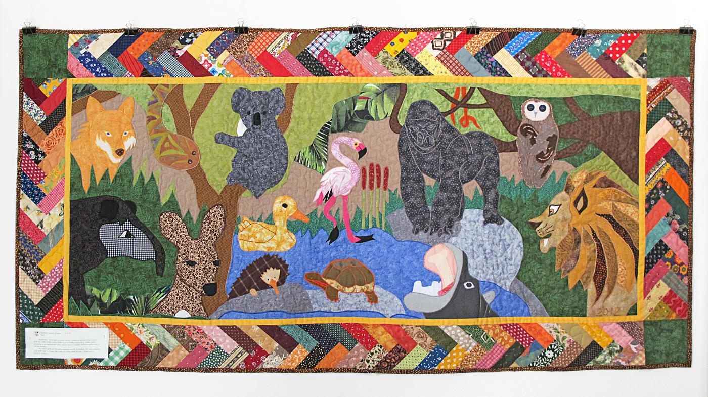 ZOO, spoločný projekt, nástenný quilt, patchwork