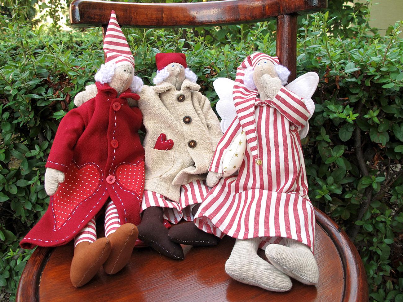 Škriatkovia, textilné hračky od Gabiky B.