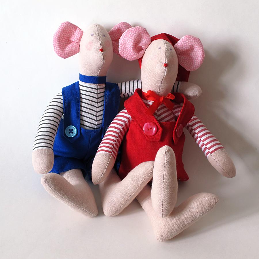 Myšky, textilné hračky od Zdenky