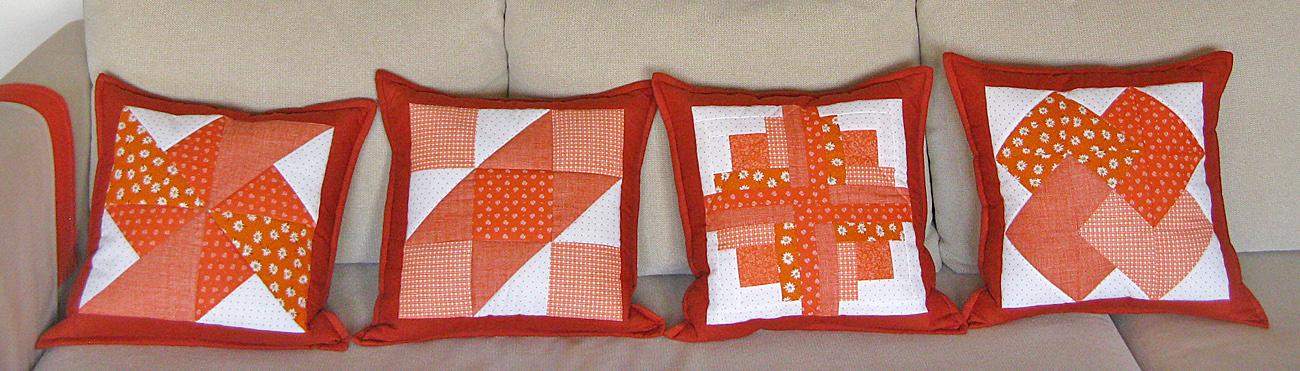 Helenkine patchworkové vankúše, detail