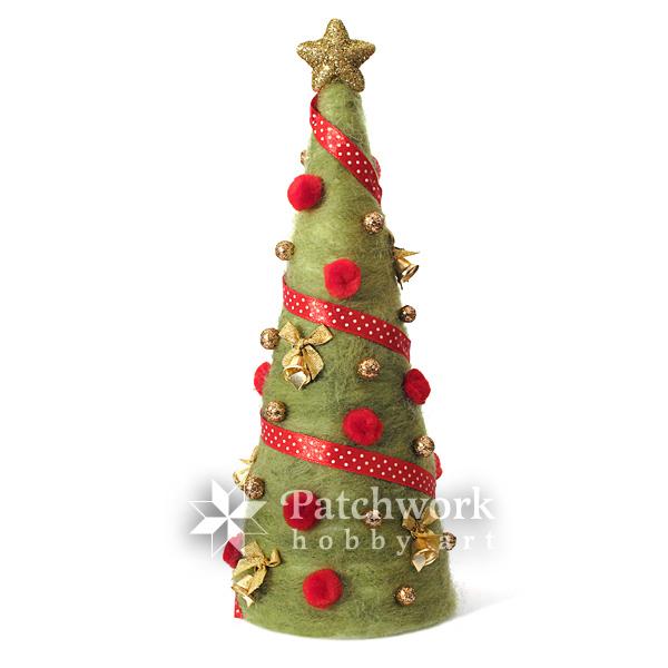vianočný stromček plstený