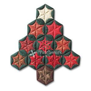 Vianočný stromček, atarashi patchwork
