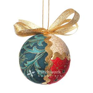 Vianočná guľa falošný patchwork