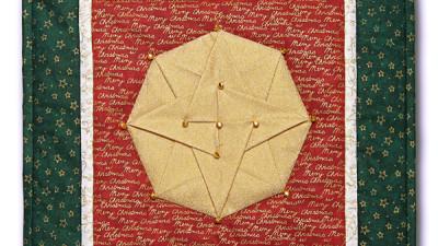 Vianočná origami hviezda