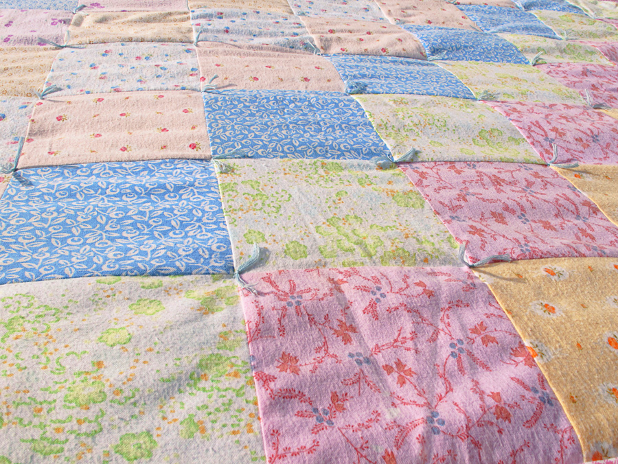 Detská patchworková deka detail
