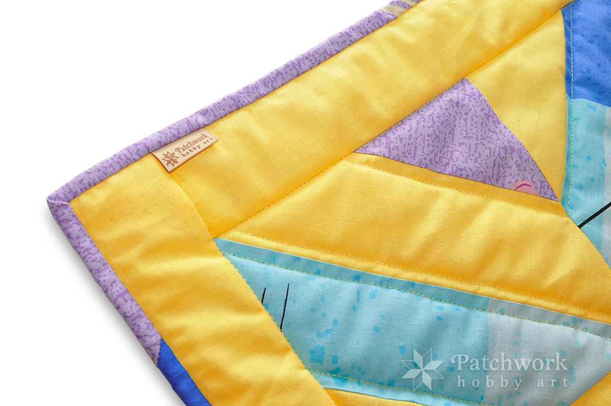 Vankúš k detskej deke, lícová strana, patchwork