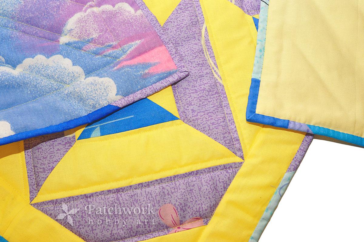 Detská deka, ladenie farieb podľa flanelu na zadnú stranu