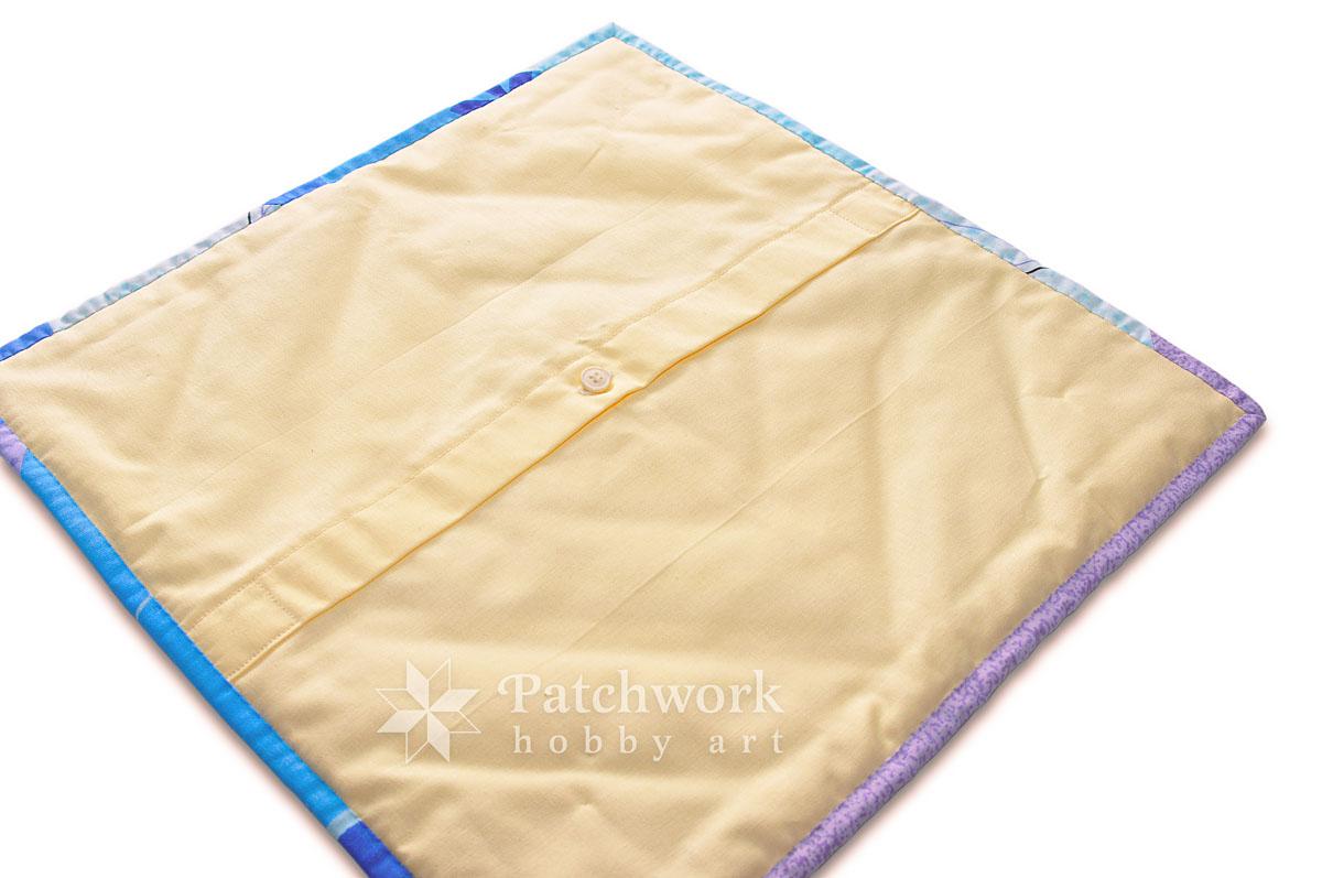 Vankúš k detskej deke, rubová strana, zapínanie, patchwork
