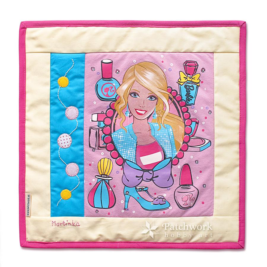 Barbie vankúš pre Martinku, patchwork