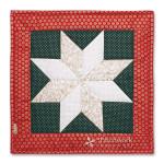 Vianočná hviezda 1, vankúš, patchwork, Le Money Star