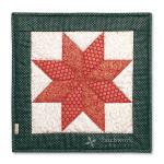 Vianočná hviezda 3, vankúš, patchwork, Le Money Star