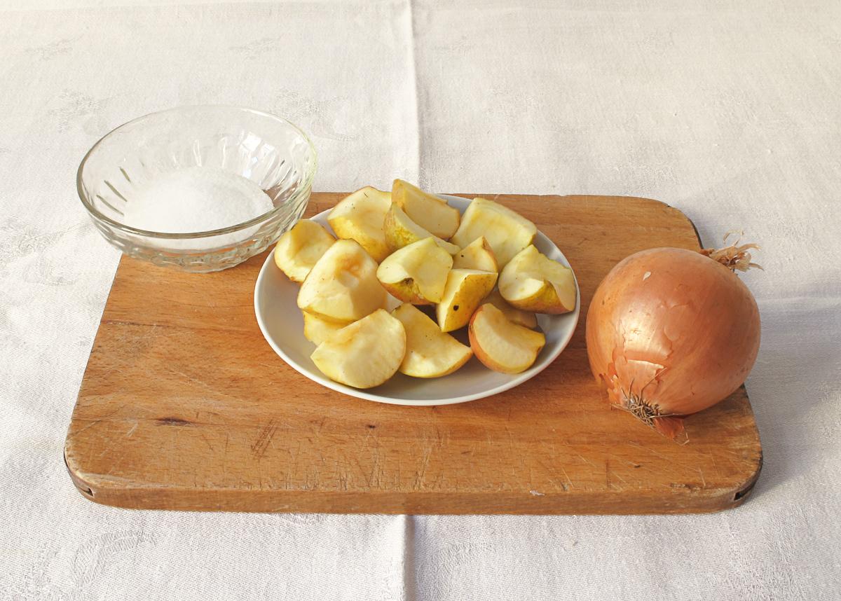Soľ, jablko a cibuľa