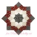 Vianočná Mikulášska hviezda, kurz patchworku