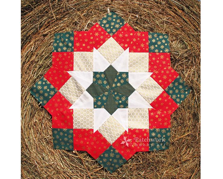 Vianočná Mikulášska hviezda, kurz patchworku, Titulny